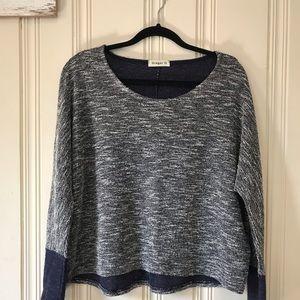 Ginger G Navy Long Sleeved Sweater Size M